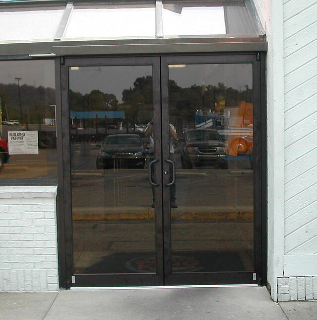 Commercial storefront installation services in cincinnati for Commercial aluminum storefront door